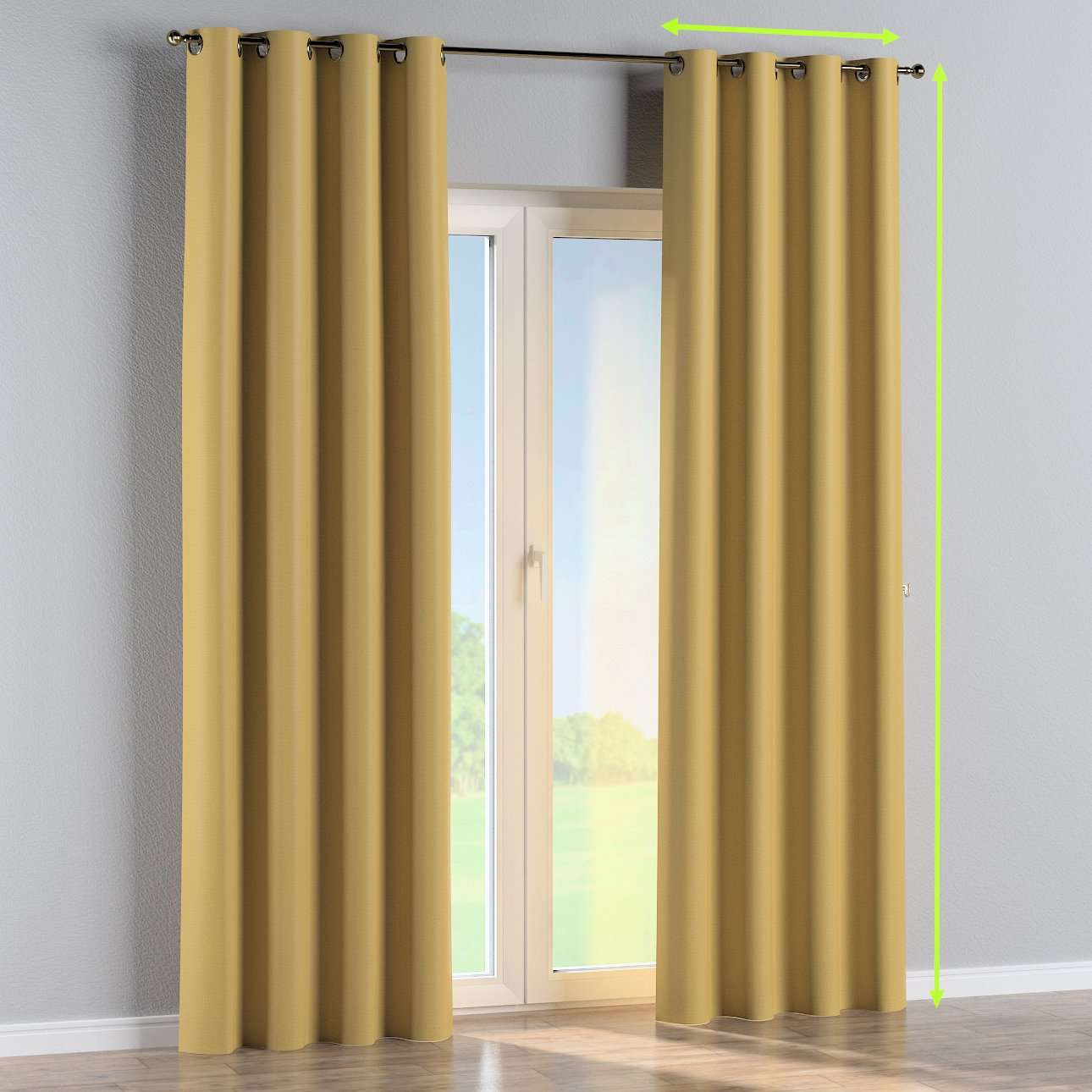 Eyelet curtain in collection Blackout, fabric: 269-68
