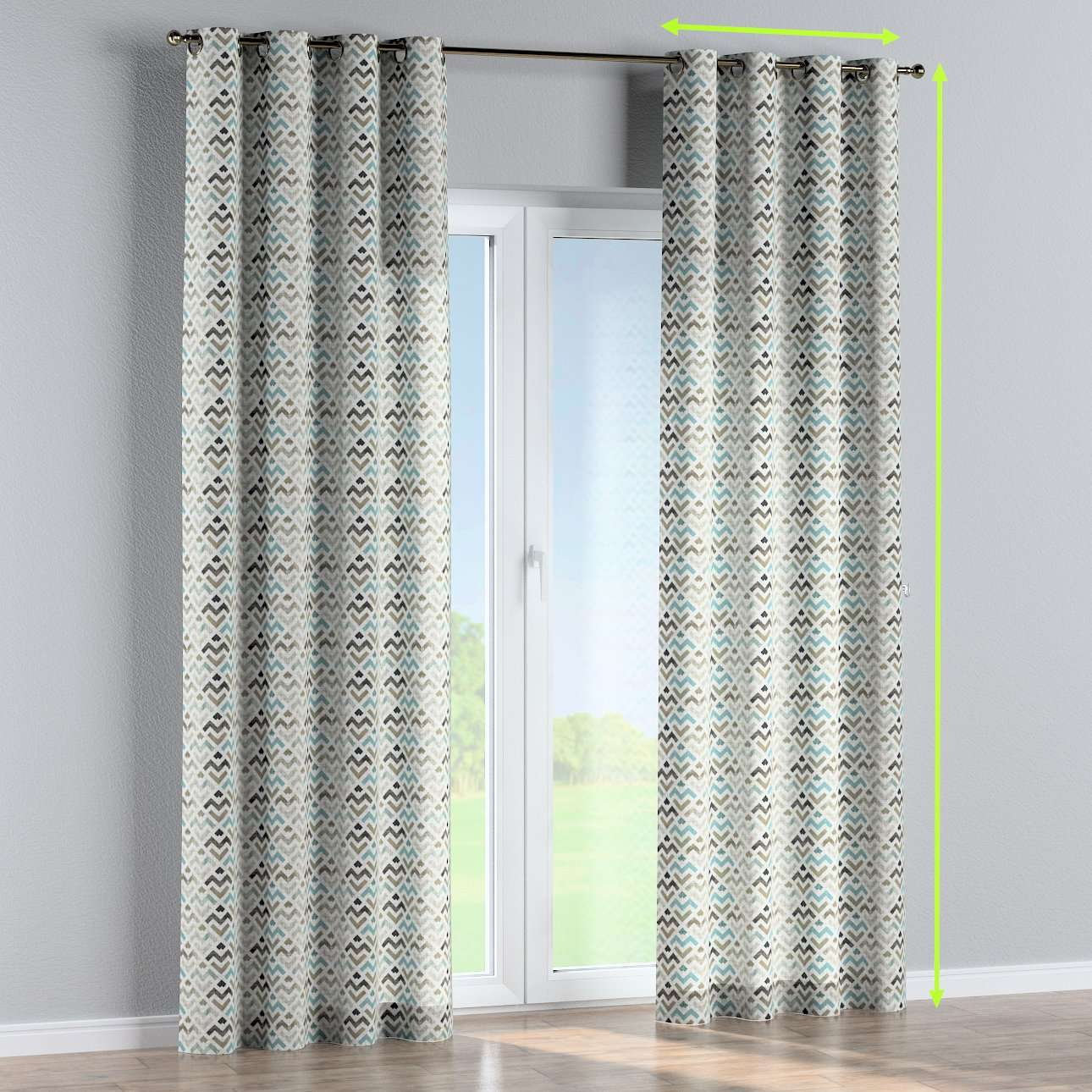 Eyelet curtain in collection Modern, fabric: 141-93