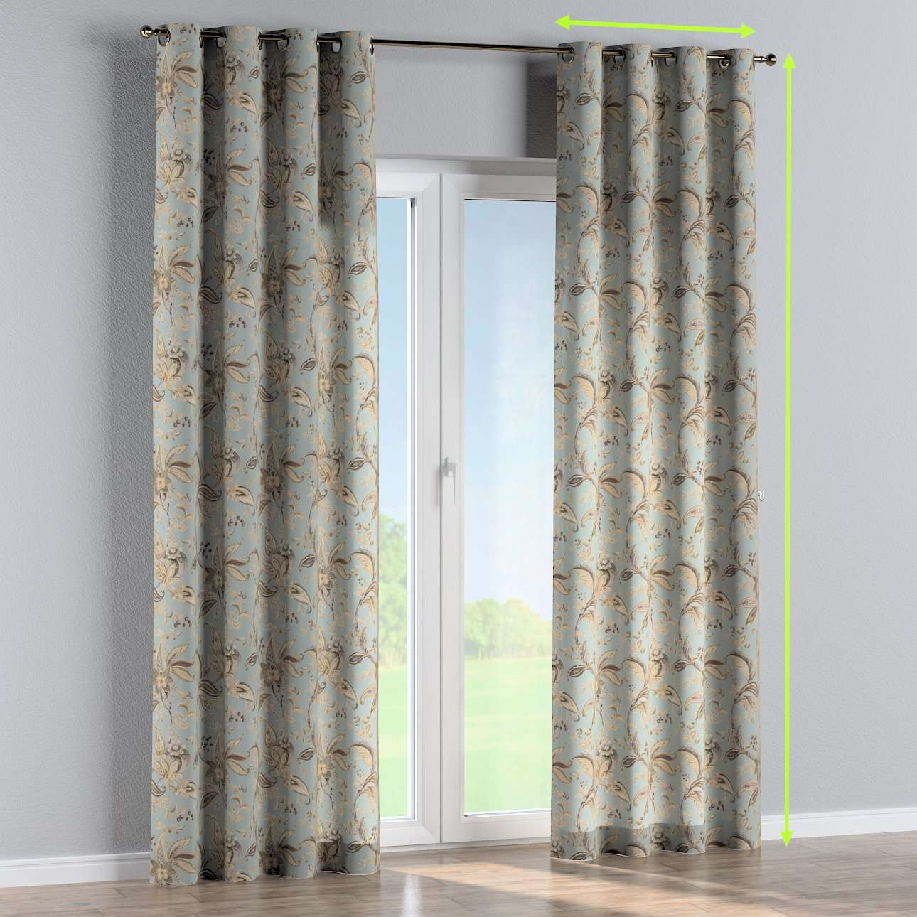 Eyelet curtain in collection Gardenia, fabric: 142-18