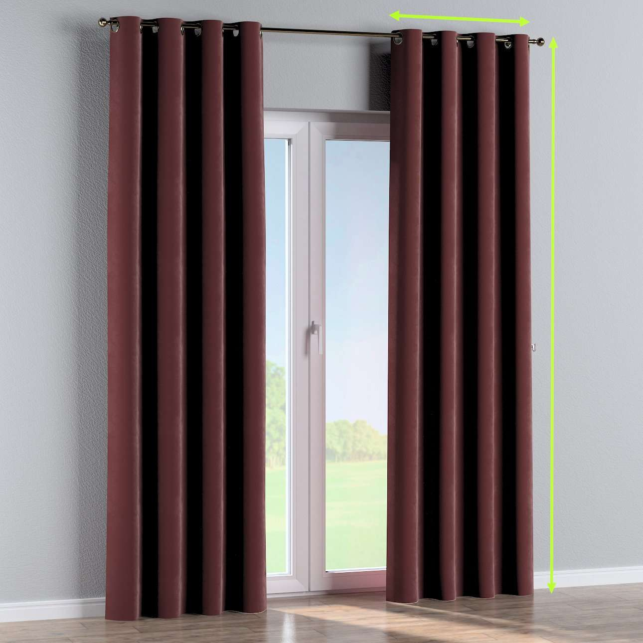 Eyelet curtain in collection Velvet, fabric: 704-26