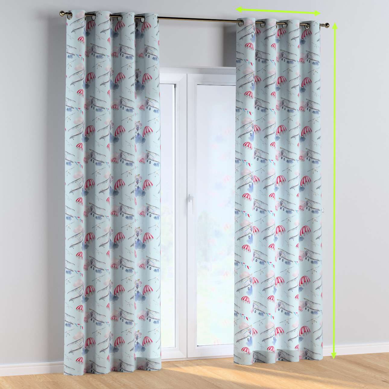 Eyelet curtains in collection Magic Collection, fabric: 500-10