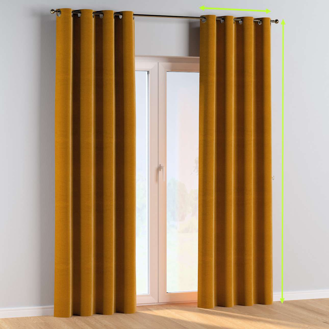 Eyelet curtains in collection Posh Velvet, fabric: 704-23