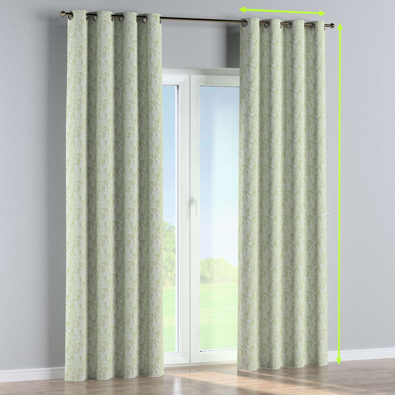 Eyelet curtain in collection Pastel Forest, fabric: 142-49
