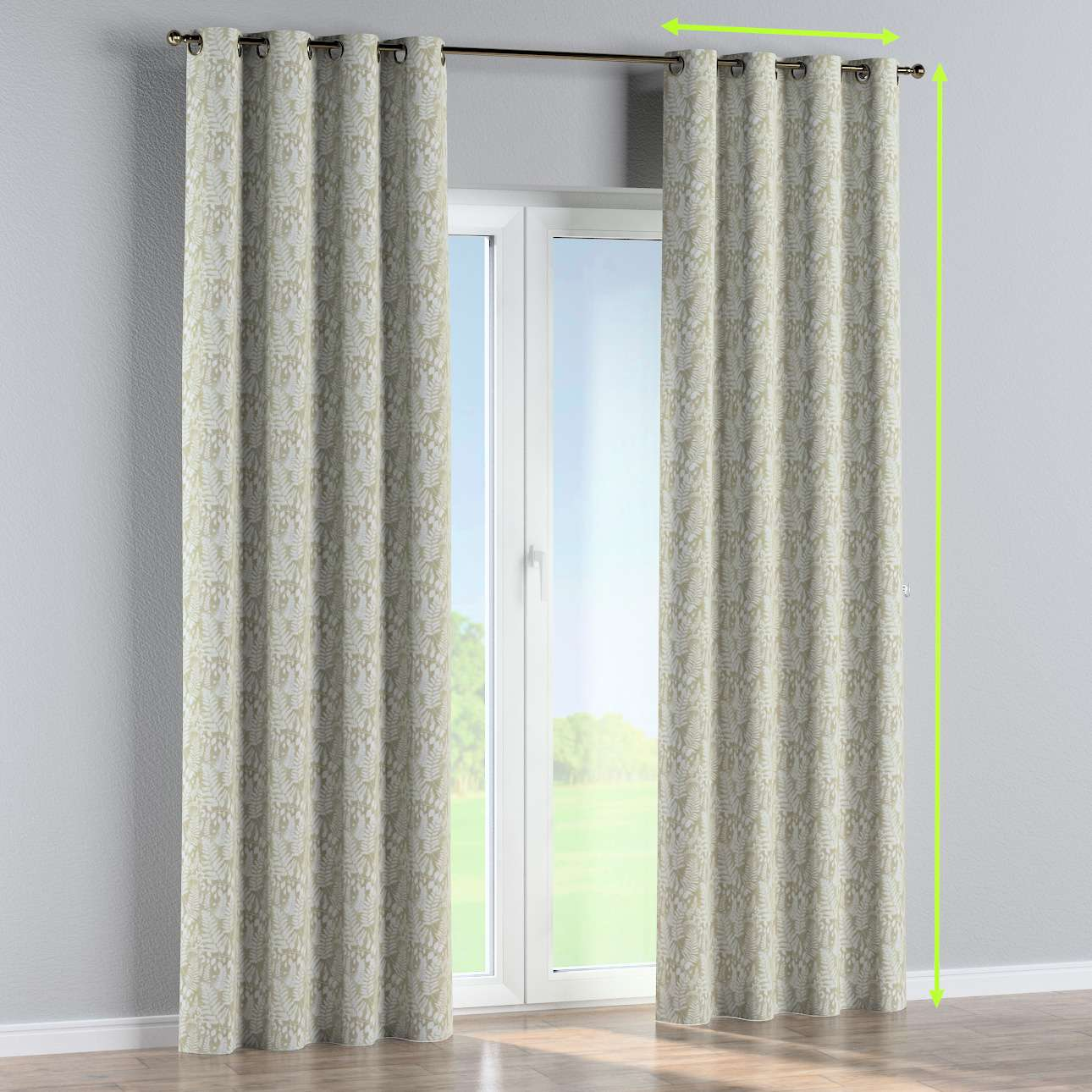Eyelet curtain in collection Tropical Island, fabric: 142-50