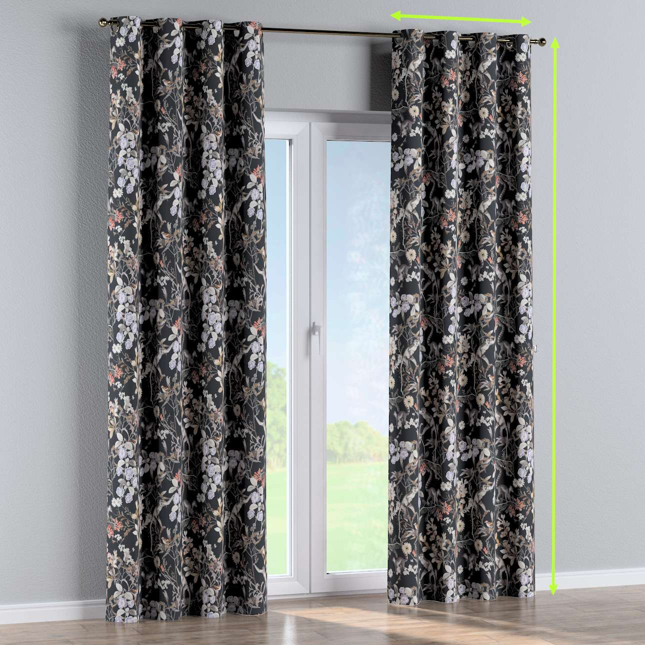 Eyelet curtain in collection Tropical Island, fabric: 142-60
