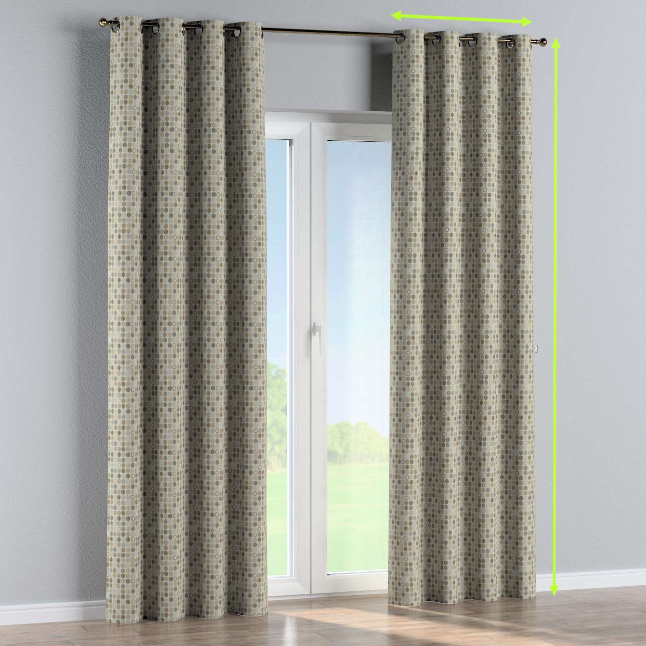 Eyelet curtain in collection Retro Glam, fabric: 142-81