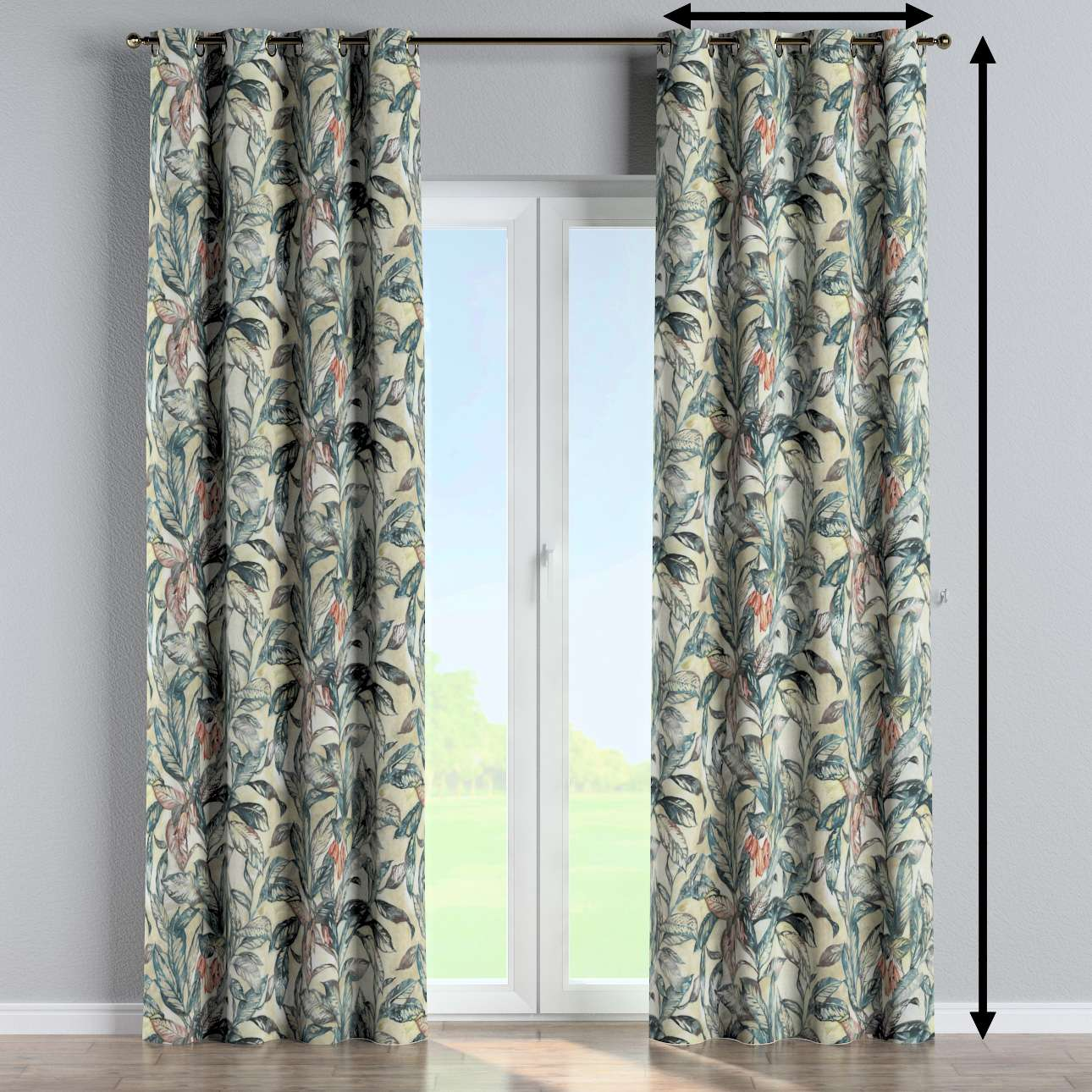 Eyelet curtain in collection Abigail, fabric: 143-08