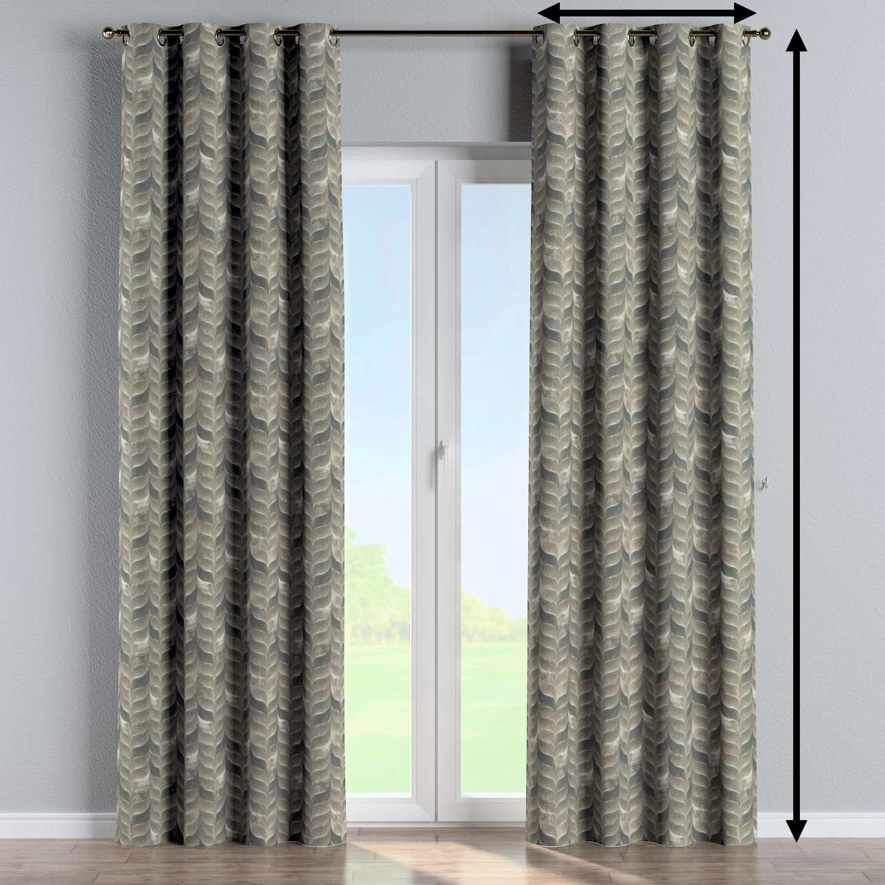 Eyelet curtain in collection Abigail, fabric: 143-12