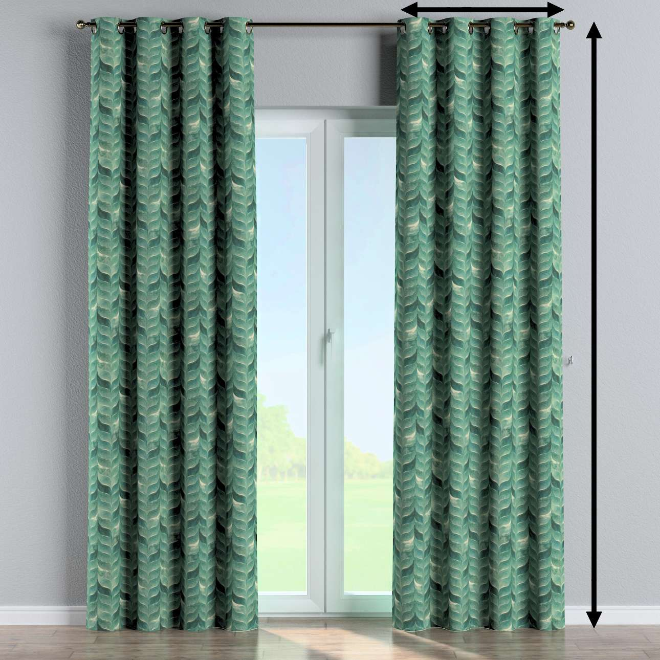 Eyelet curtain in collection Abigail, fabric: 143-16