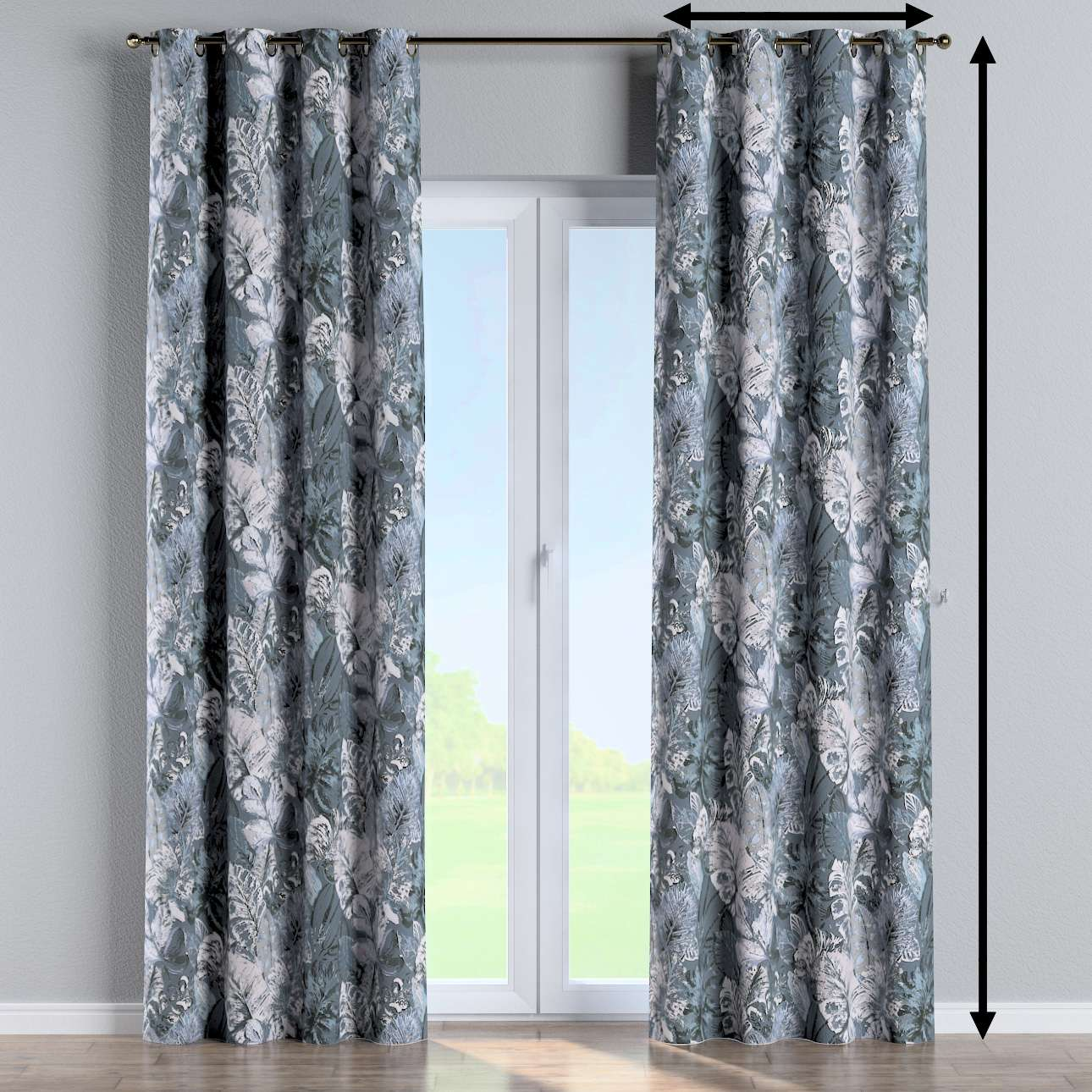 Eyelet curtain in collection Abigail, fabric: 143-18