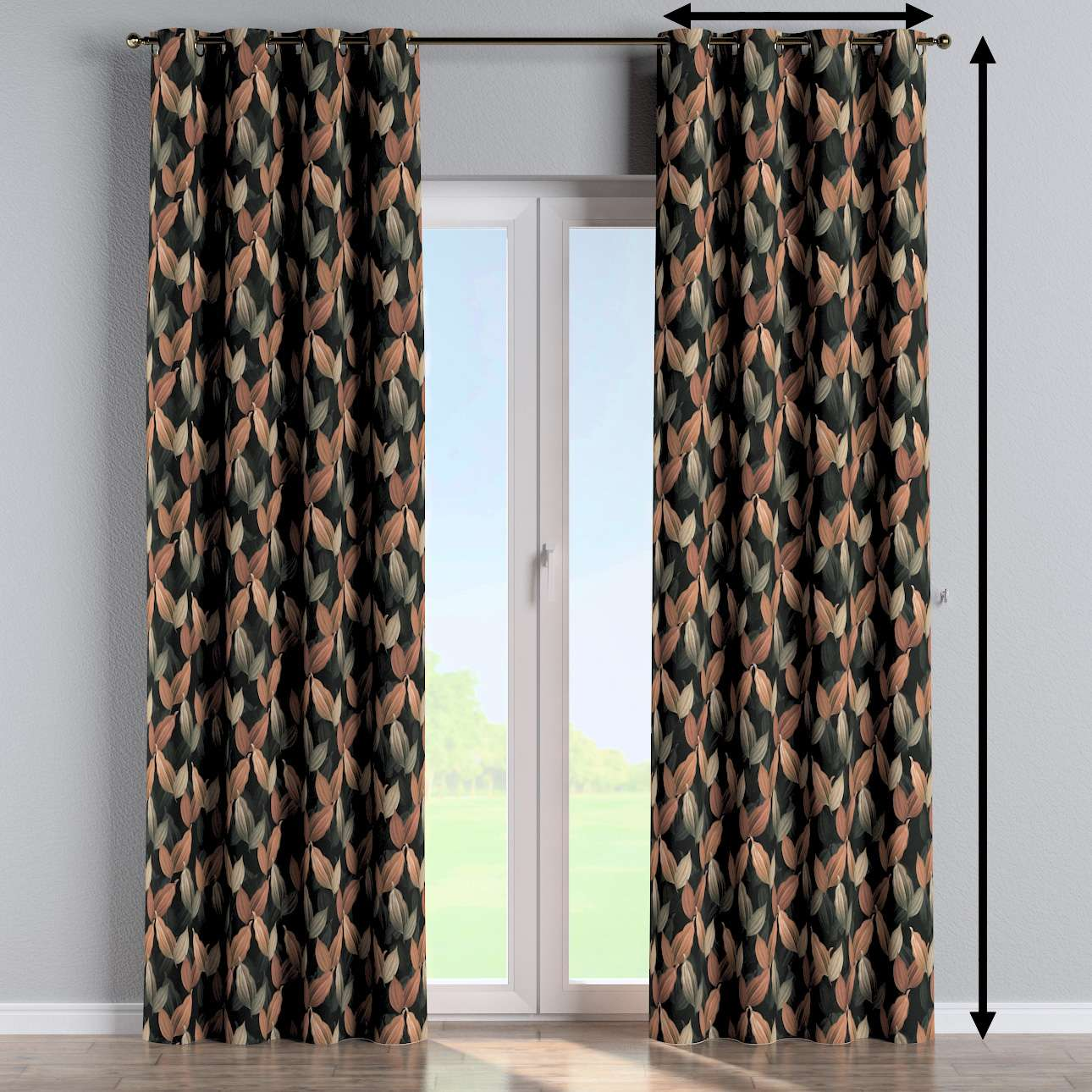 Eyelet curtain in collection Abigail, fabric: 143-21