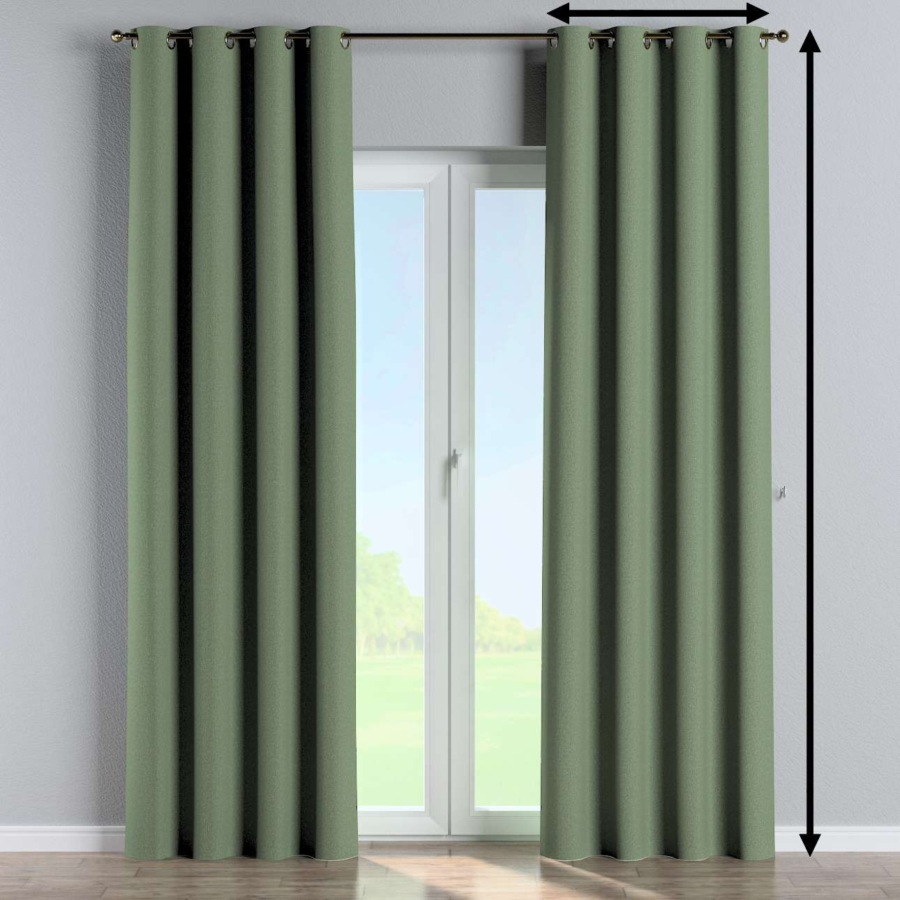 Eyelet curtain in collection Amsterdam, fabric: 704-44
