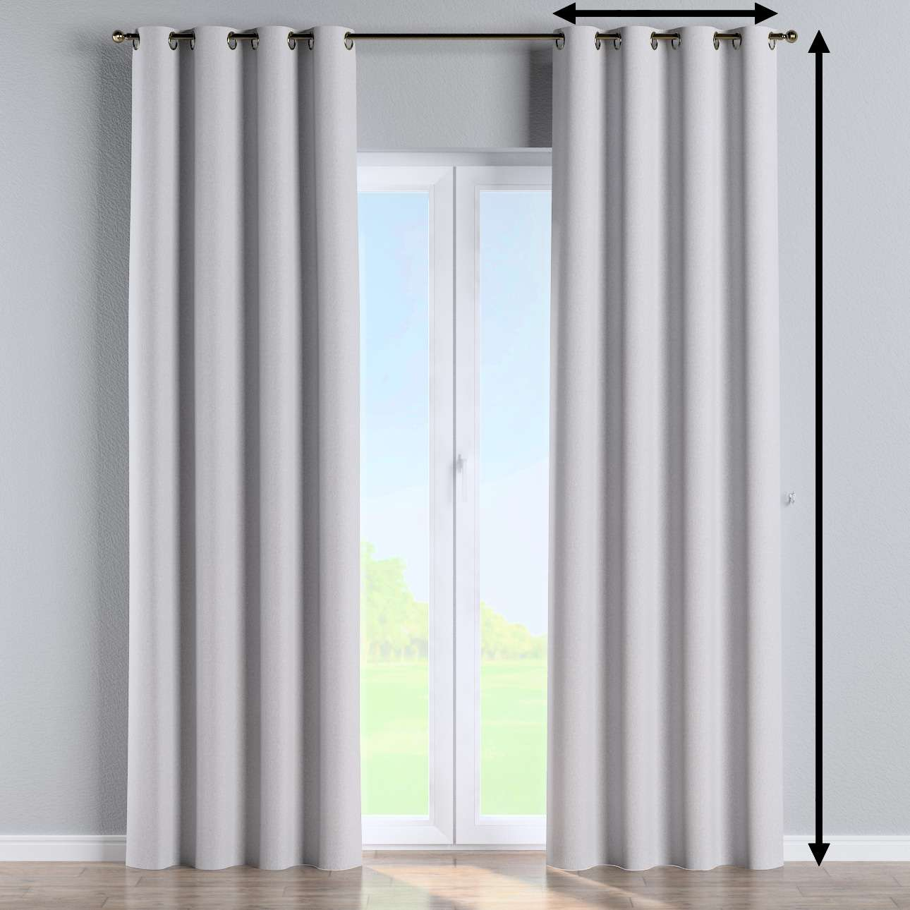 Eyelet curtain in collection Amsterdam, fabric: 704-45