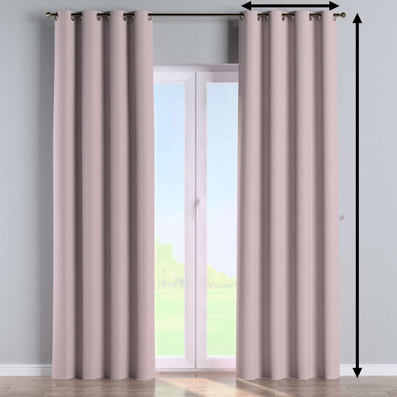 Eyelet curtain in collection Amsterdam, fabric: 704-51