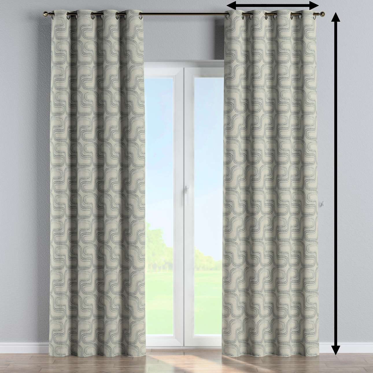 Eyelet curtain in collection Comics/Geometrical, fabric: 143-14