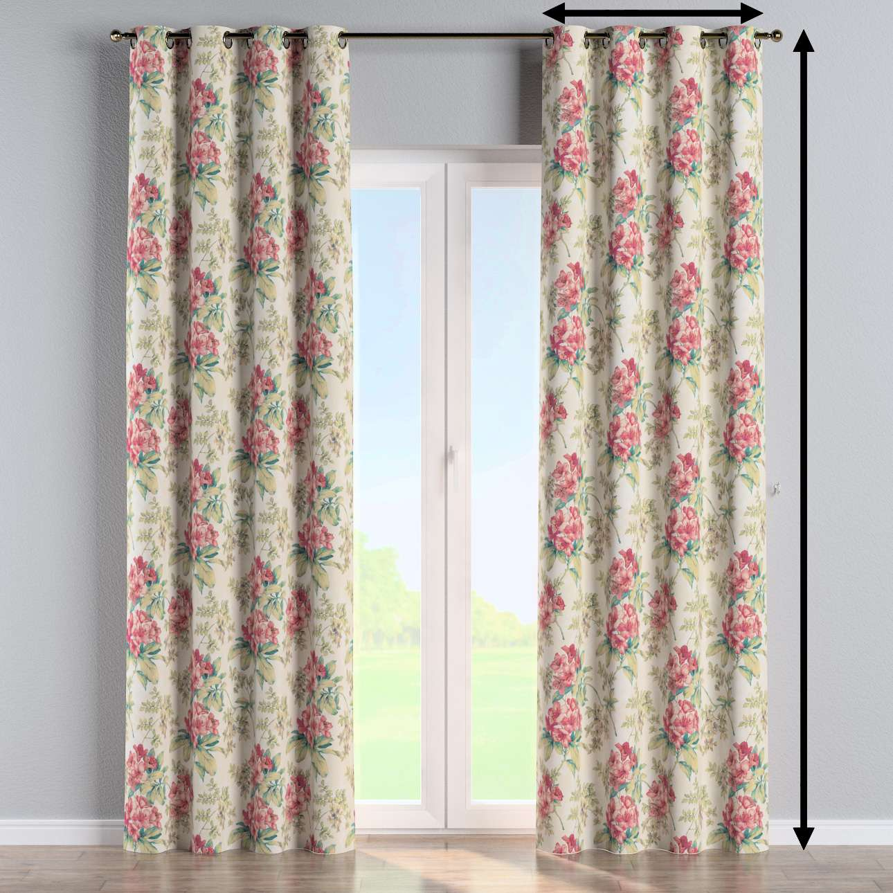 Eyelet curtain in collection Londres, fabric: 143-40