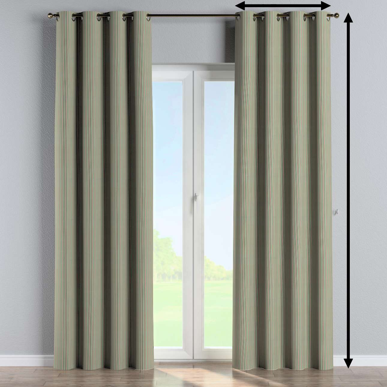 Eyelet curtain in collection Londres, fabric: 143-42