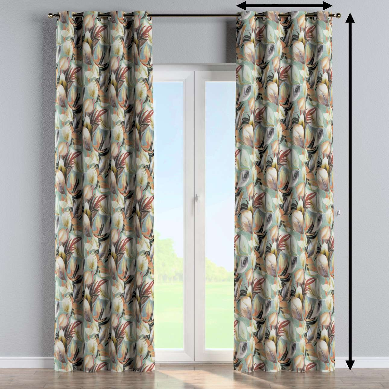 Eyelet curtain in collection Abigail, fabric: 143-61