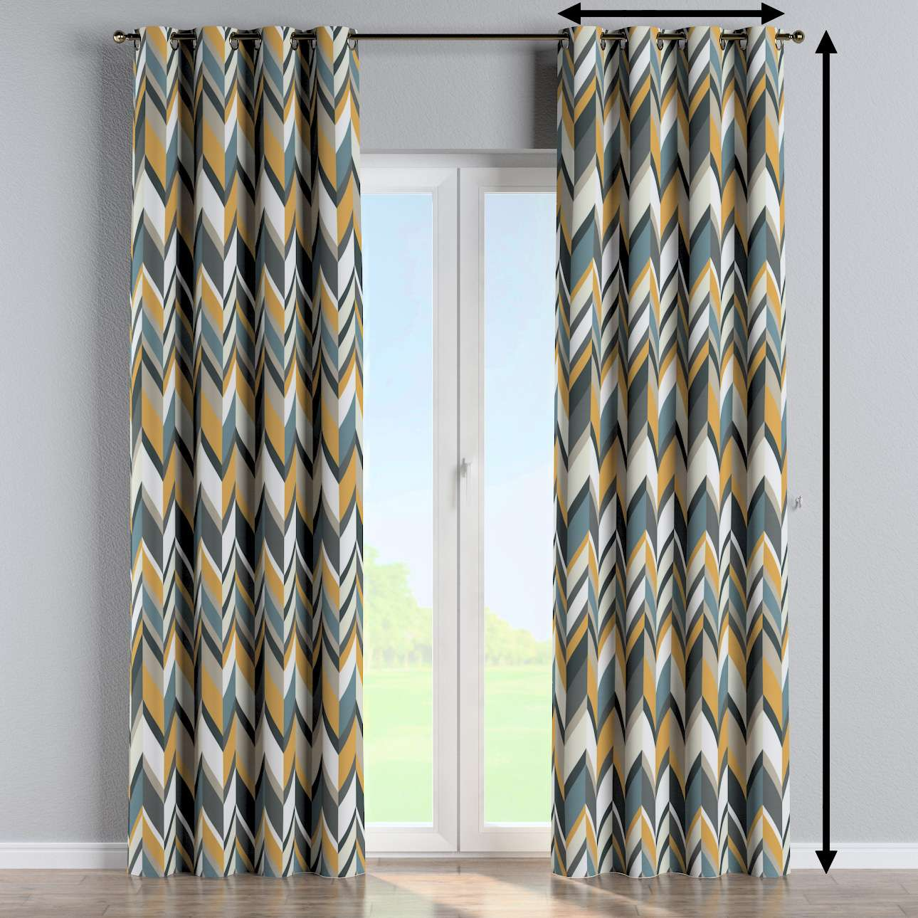 Eyelet curtain in collection Vintage 70's, fabric: 143-56