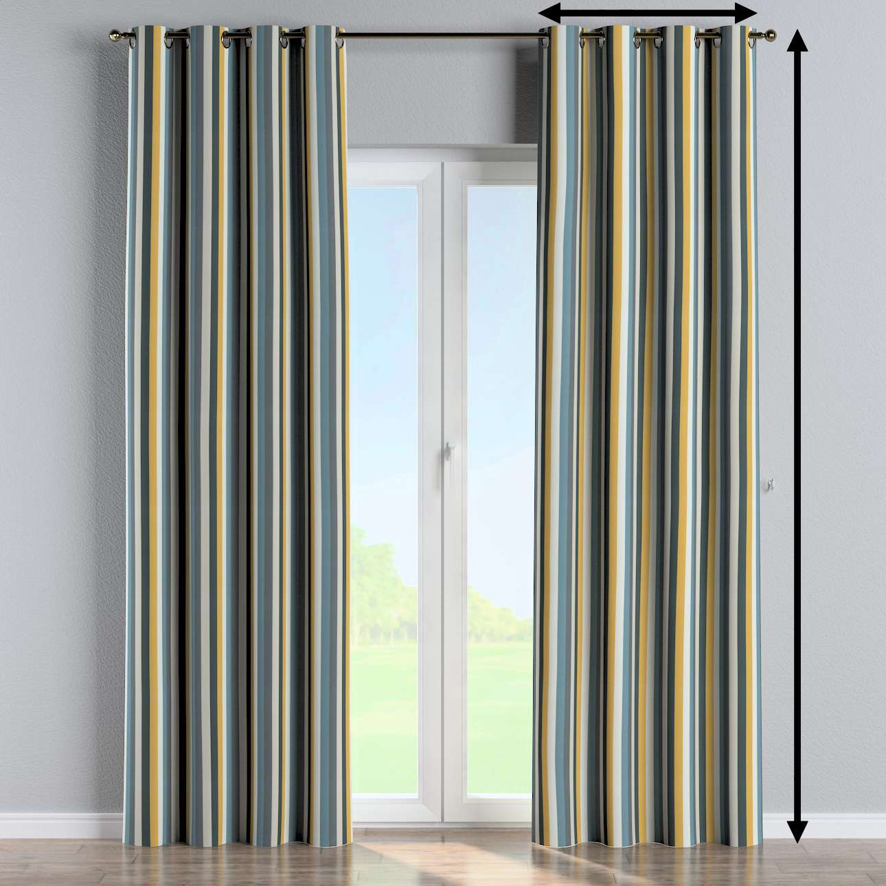 Eyelet curtain in collection Vintage 70's, fabric: 143-59
