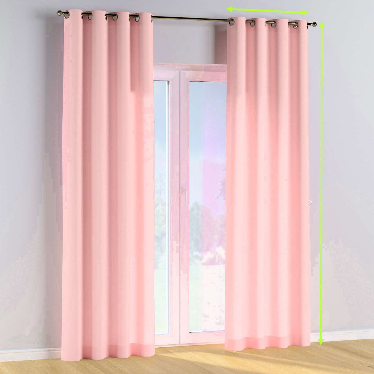 Eyelet curtains in collection Happiness, fabric: 133-39
