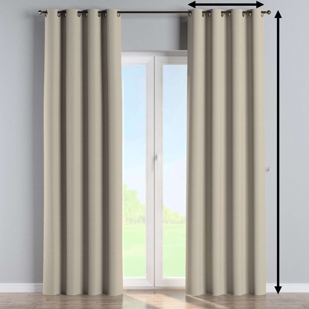 Eyelet curtain in collection Amsterdam, fabric: 704-52