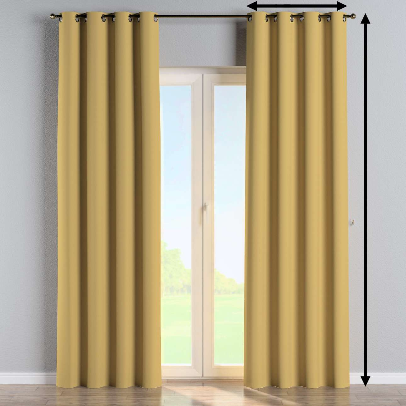 Eyelet curtain in collection Panama Cotton, fabric: 702-41
