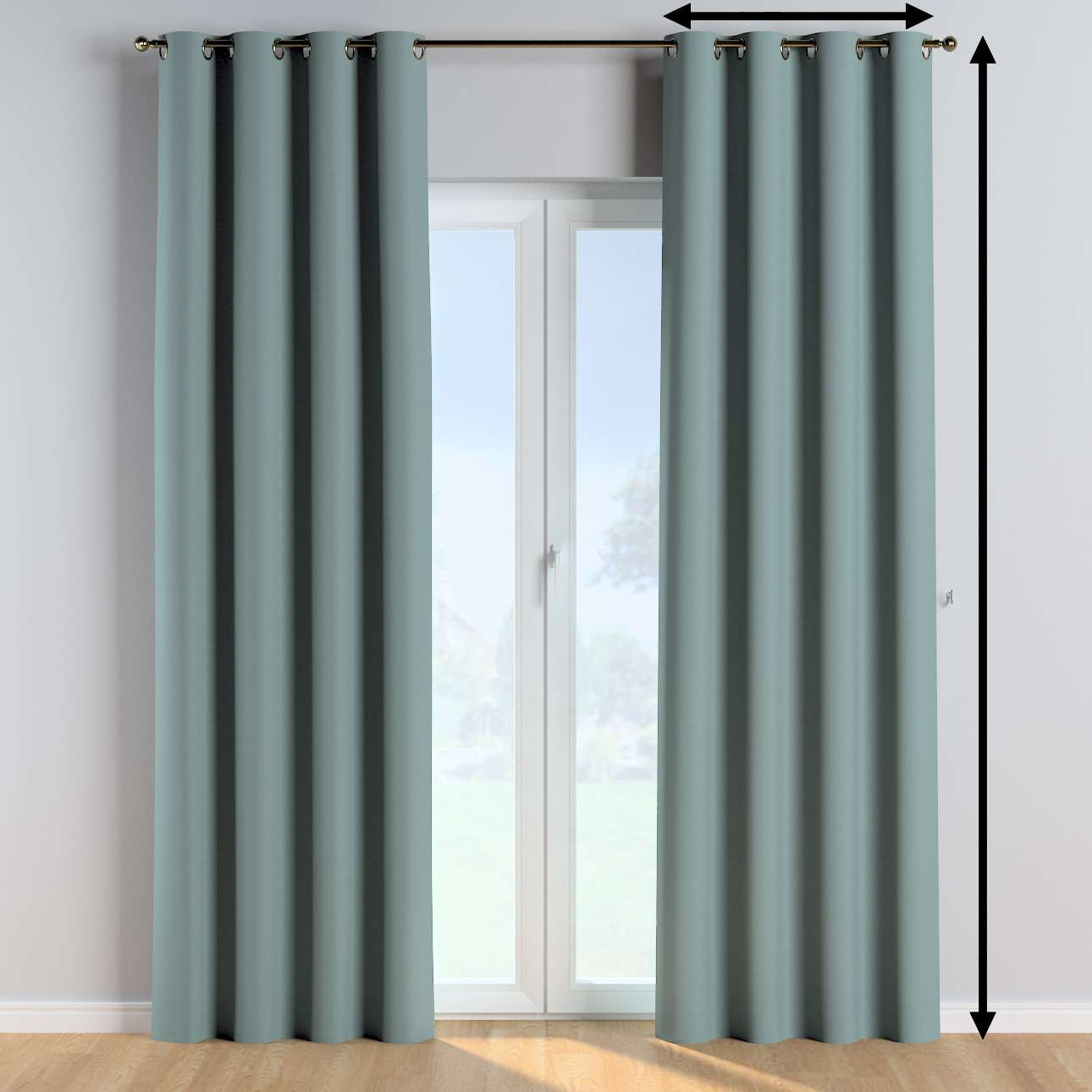 Eyelet curtains in collection Cotton Story, fabric: 702-40