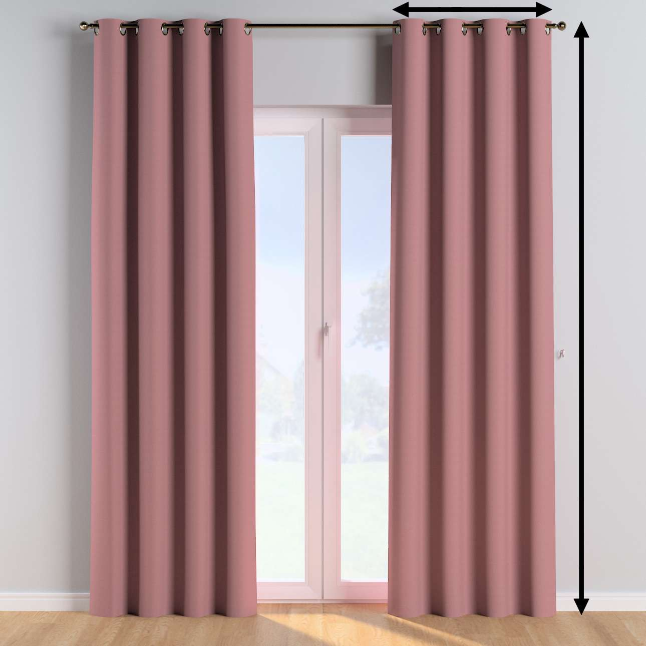 Eyelet curtains in collection Cotton Story, fabric: 702-43