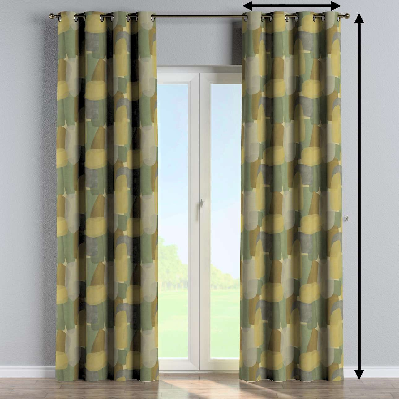 Eyelet curtain in collection Vintage 70's, fabric: 143-72