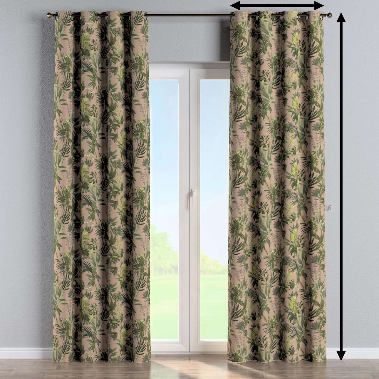 Eyelet curtain in collection Tropical Island, fabric: 143-71