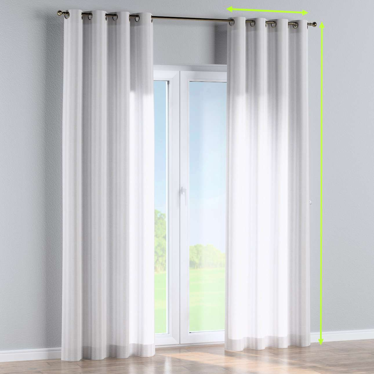 Eyelet curtains in collection Linen , fabric: 392-03