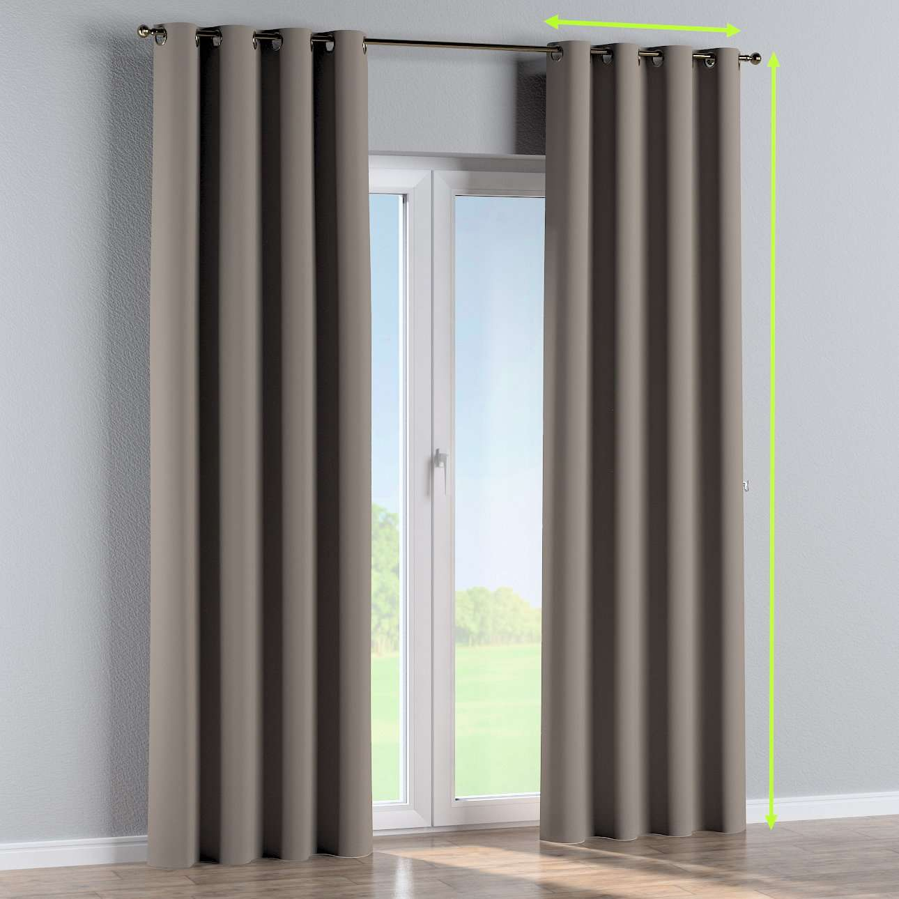 Eyelet curtain in collection Blackout, fabric: 269-81