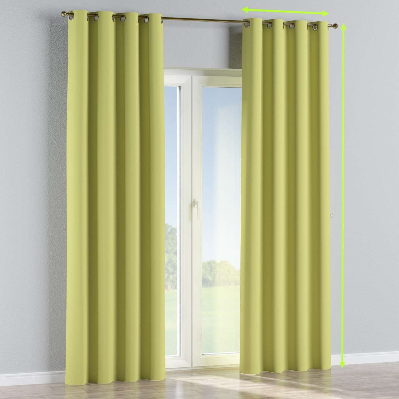 Eyelet curtain in collection Blackout, fabric: 269-17