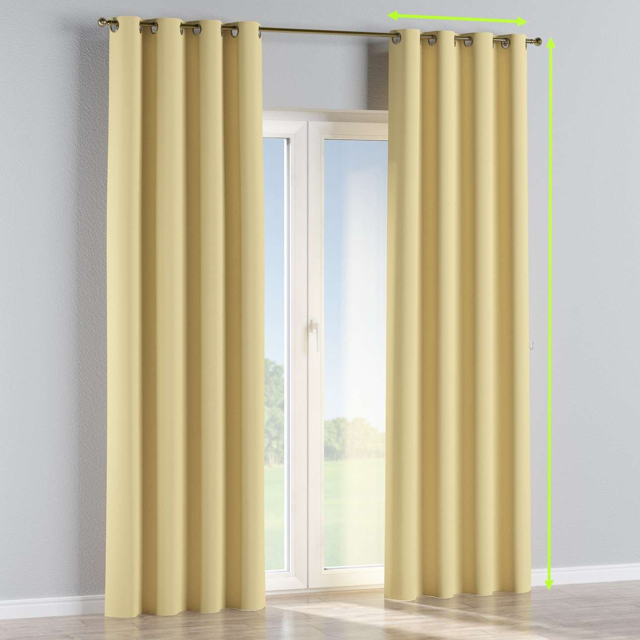 Eyelet curtain in collection Blackout, fabric: 269-12