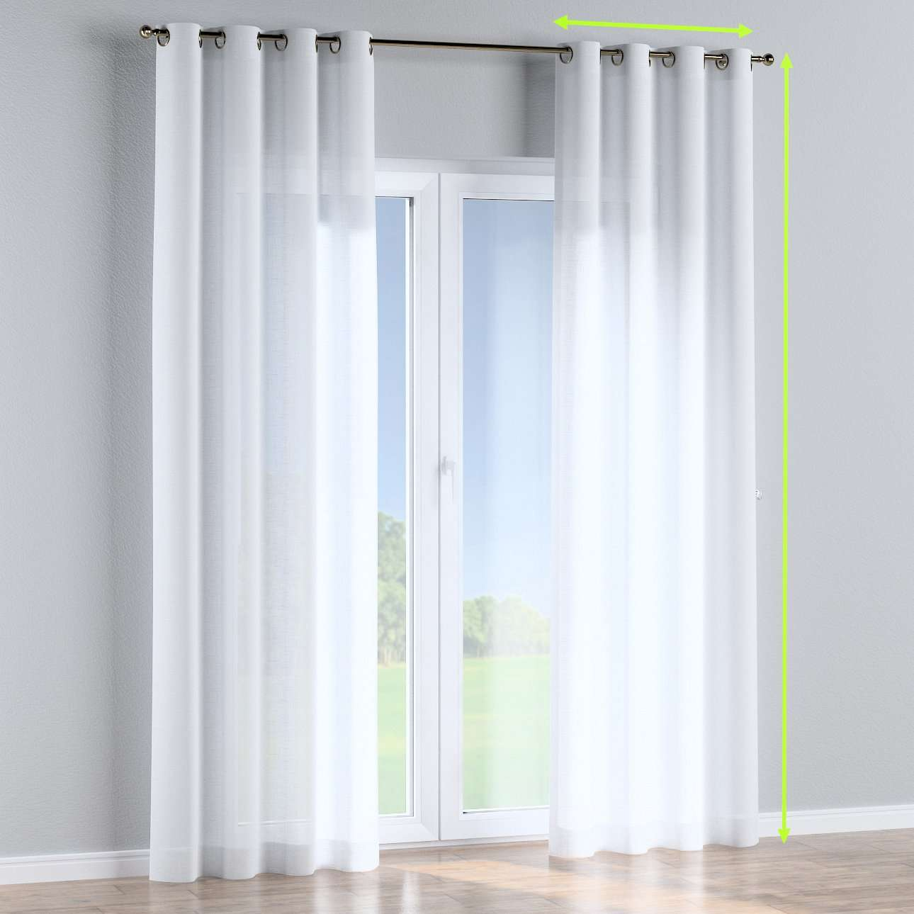 Eyelet curtains in collection Romantica, fabric: 128-77