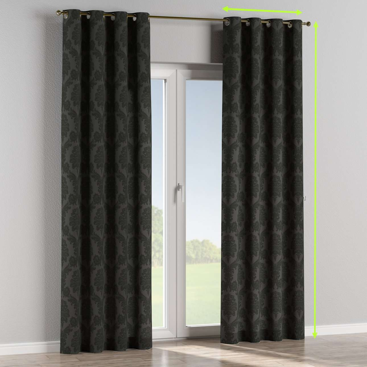 Eyelet curtains in collection Damasco, fabric: 613-32