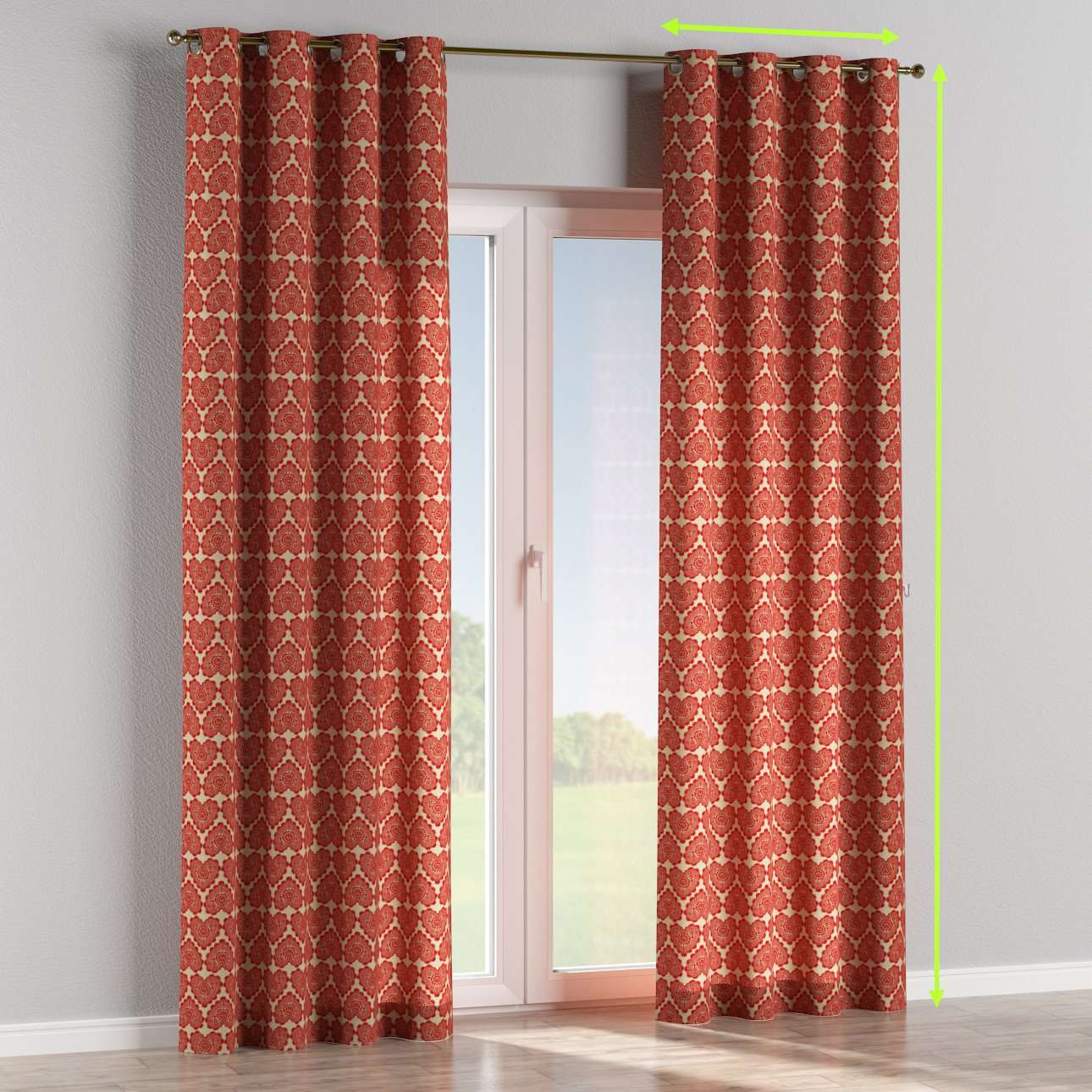 Eyelet curtains in collection Freestyle, fabric: 629-17