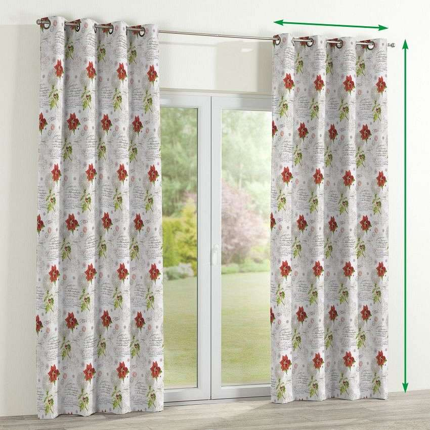 Eyelet curtains in collection Christmas, fabric: 629-24
