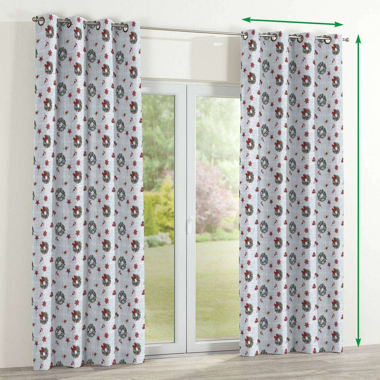 Eyelet curtains in collection Christmas, fabric: 629-26