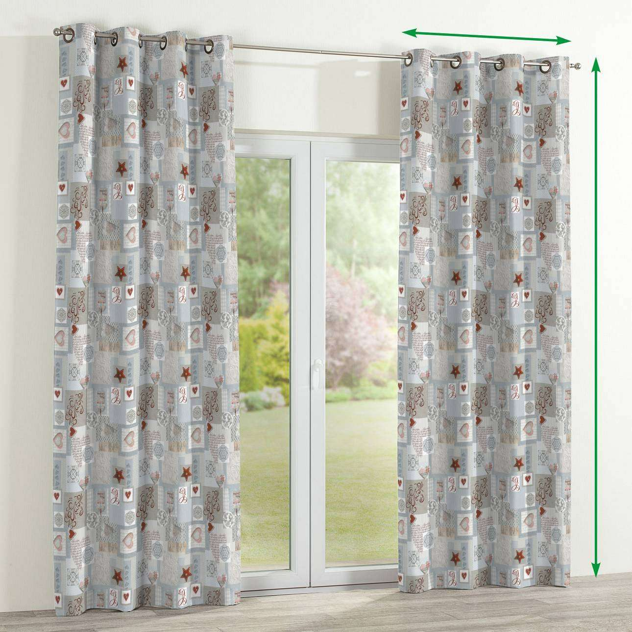 Eyelet curtains in collection Christmas , fabric: 629-27