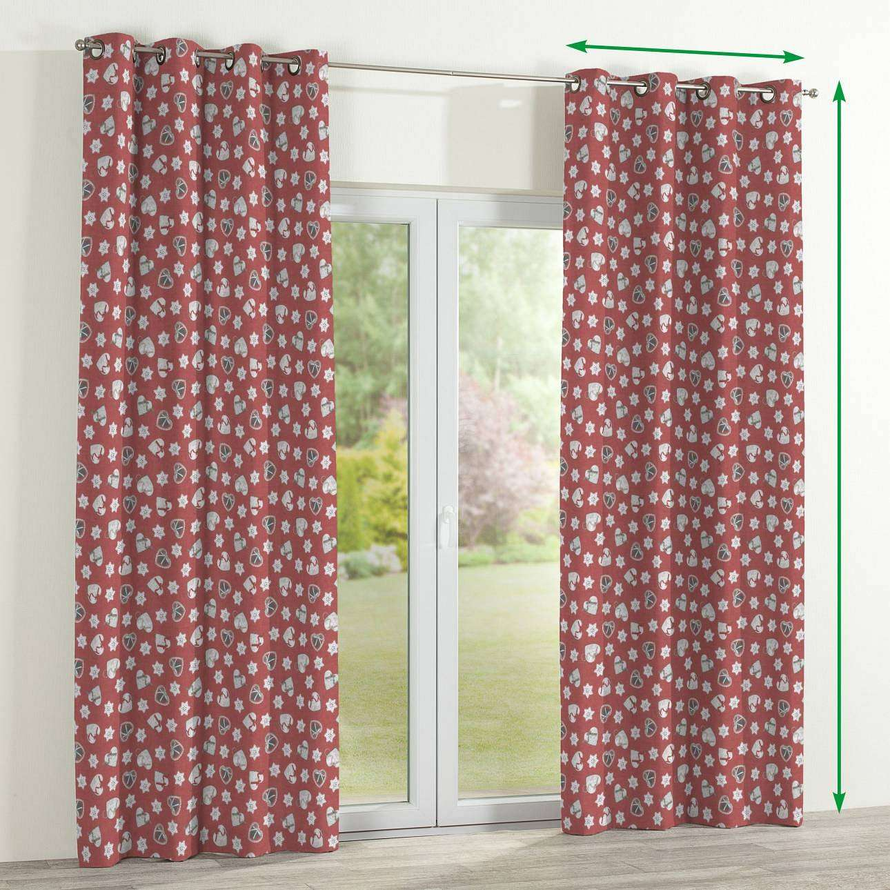 Eyelet curtains in collection Christmas , fabric: 629-29