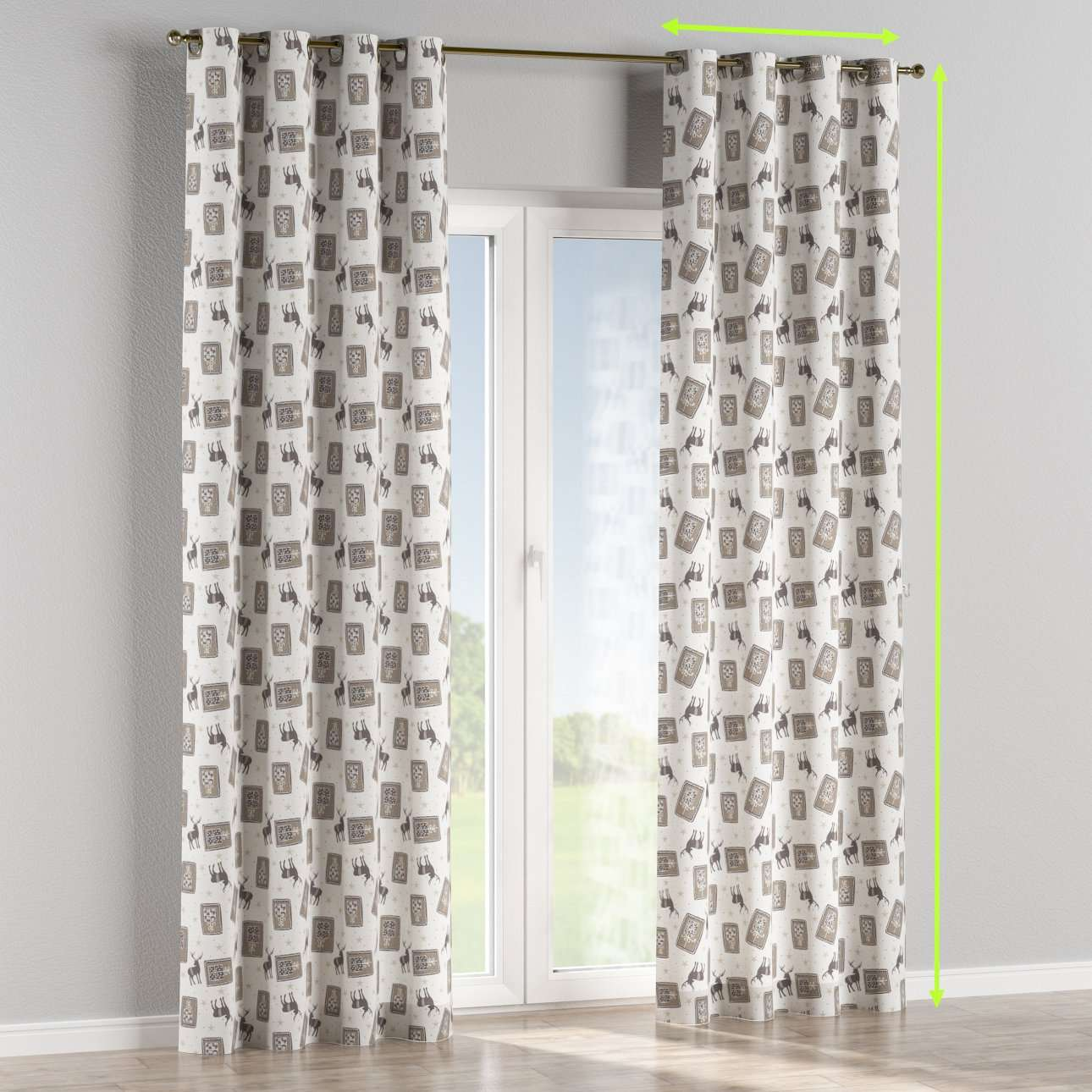 Eyelet curtains in collection Nordic, fabric: 630-10