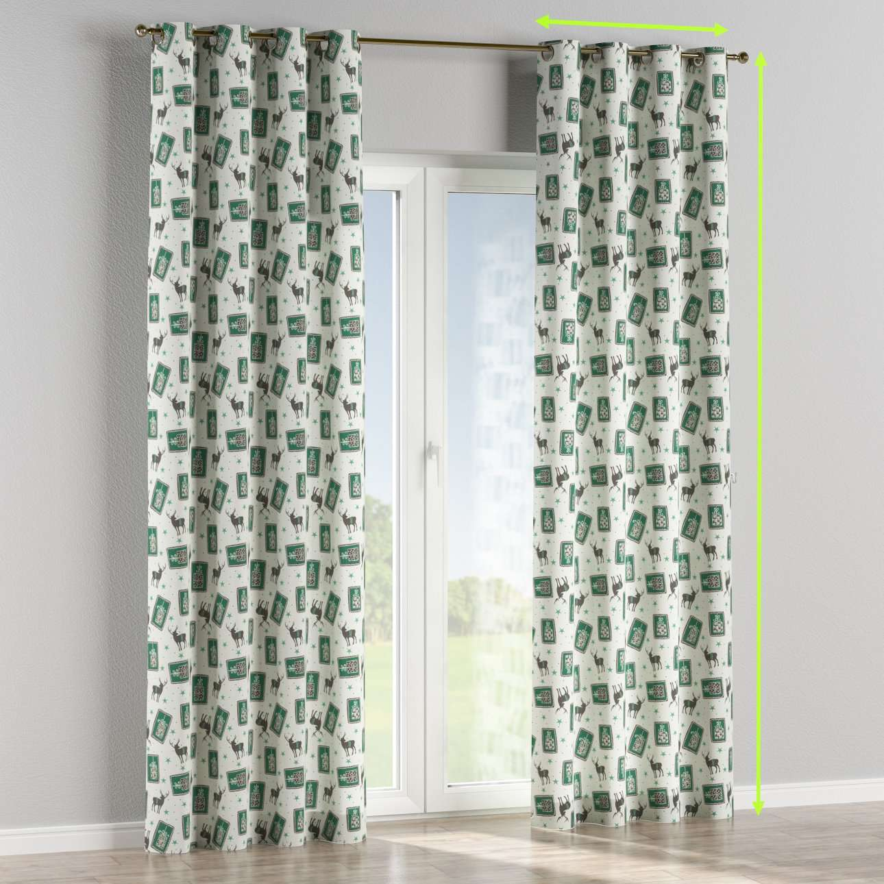 Eyelet curtains in collection Nordic, fabric: 630-13