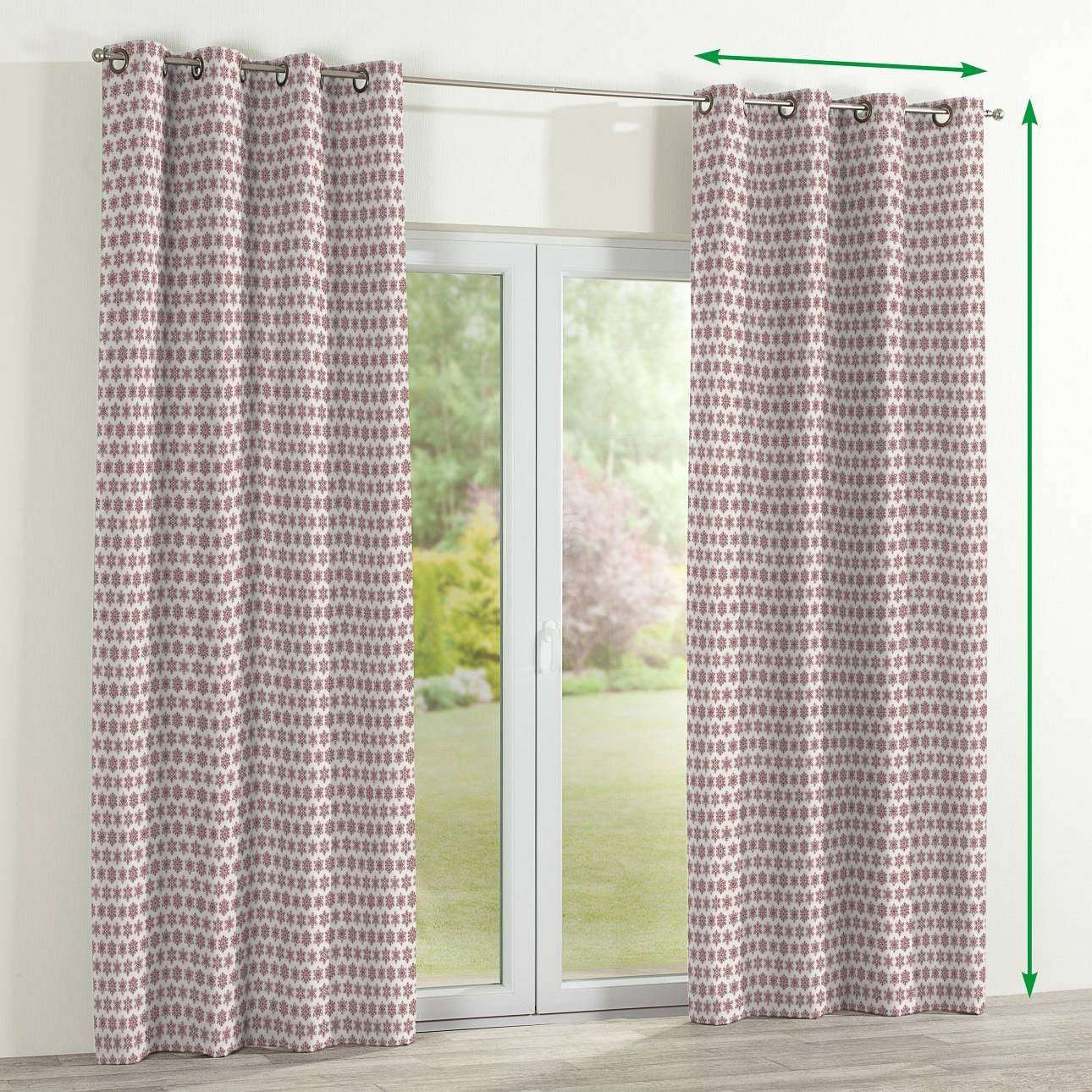 Eyelet curtains in collection Christmas , fabric: 630-22