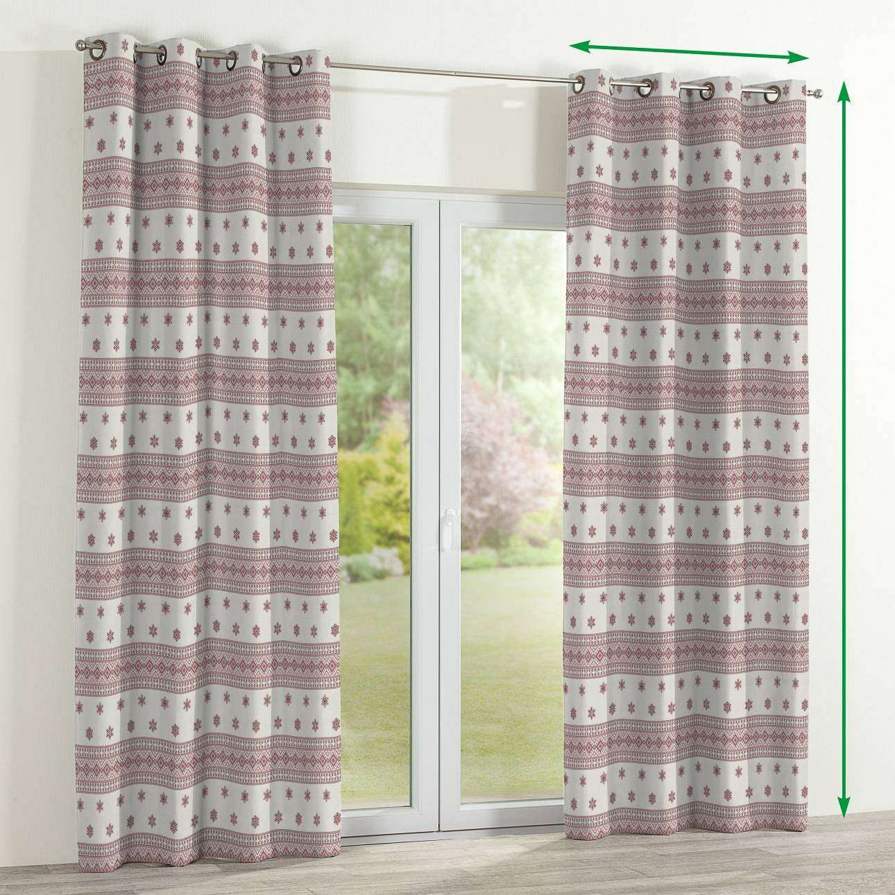 Eyelet curtains in collection Christmas , fabric: 630-23