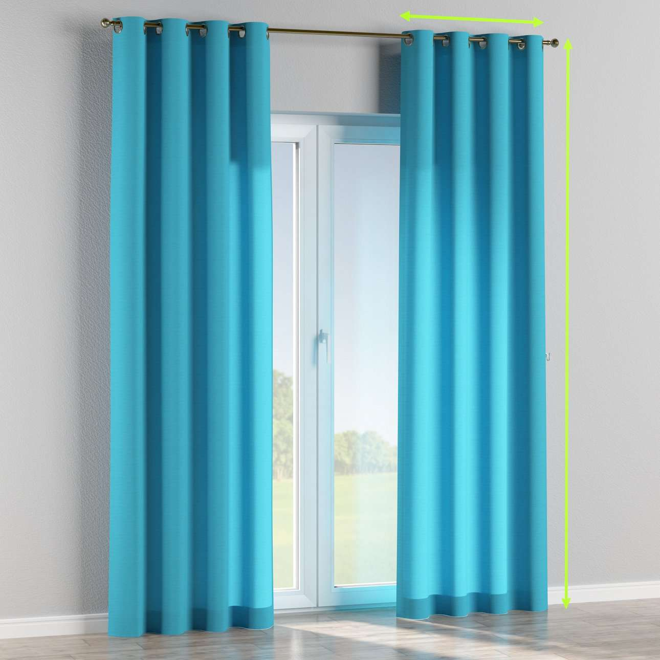 Eyelet curtain in collection Jupiter, fabric: 127-70