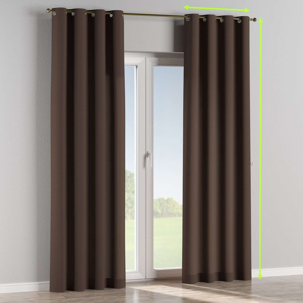 Eyelet curtains in collection Cotton Panama, fabric: 702-03