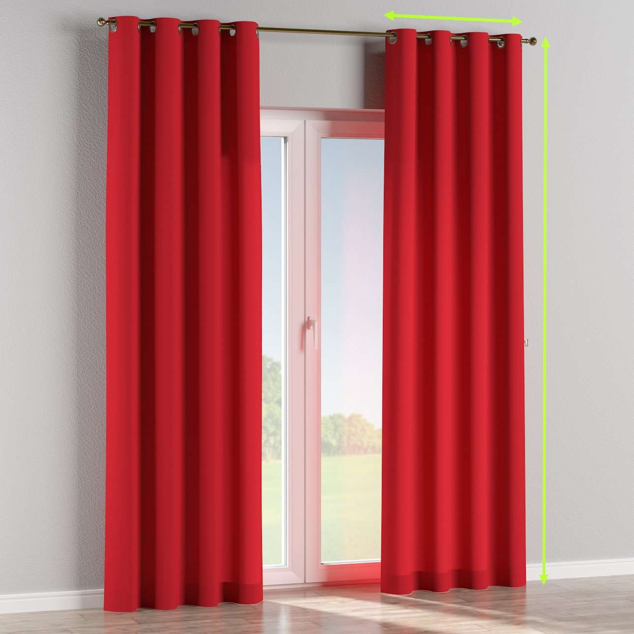Eyelet curtains in collection Cotton Panama, fabric: 702-04