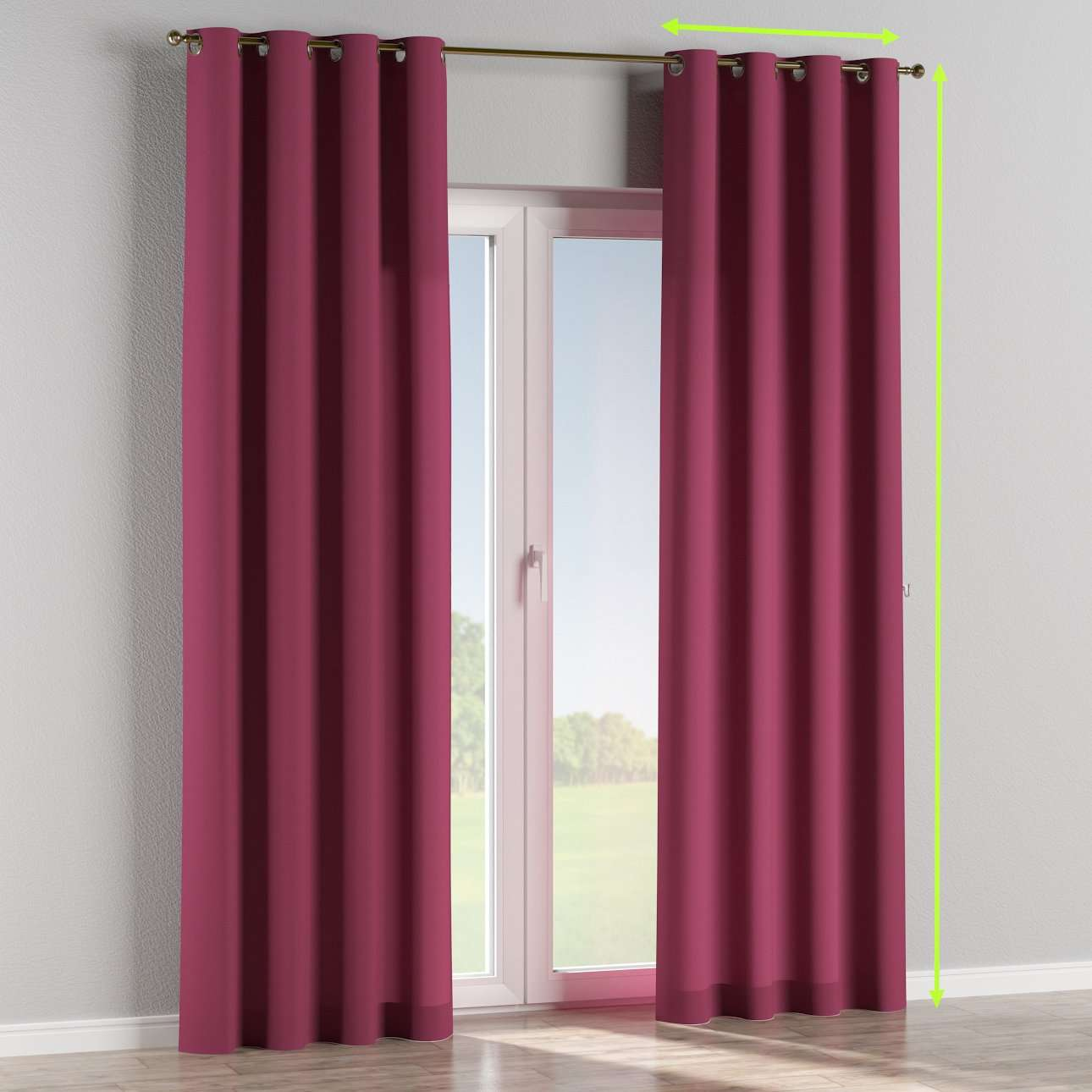 Eyelet curtains in collection Cotton Panama, fabric: 702-32